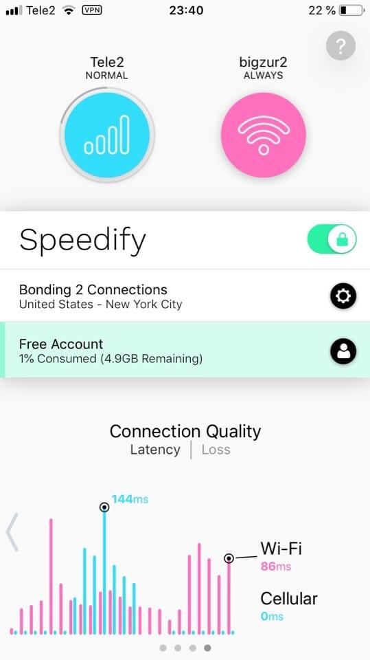 Speedify Bonding VPN 2