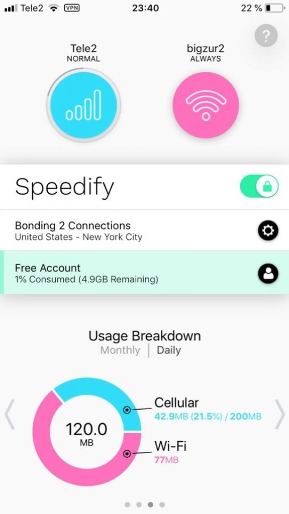 Speedify Bonding VPN 3