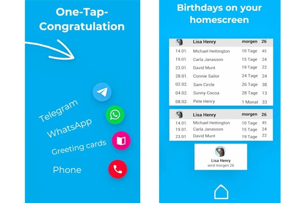 birthdays app android