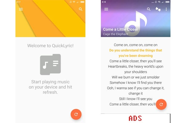 quicklyrics app