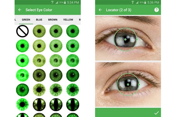 eye color camera android