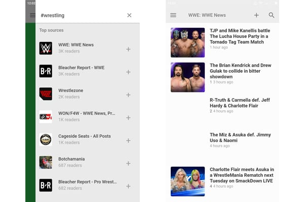 feedly wrestling