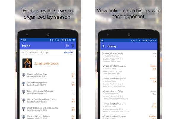 wrestling journal app