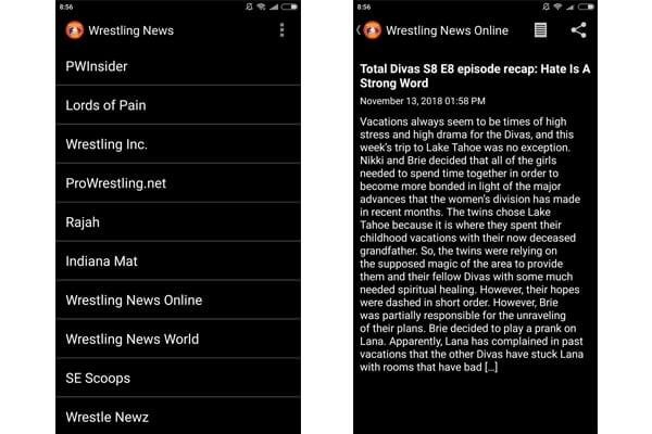 wrestling news app
