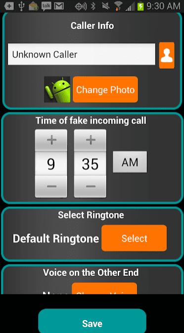 Fake-A-Call Free app