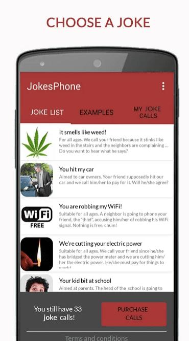 JokesPhone app