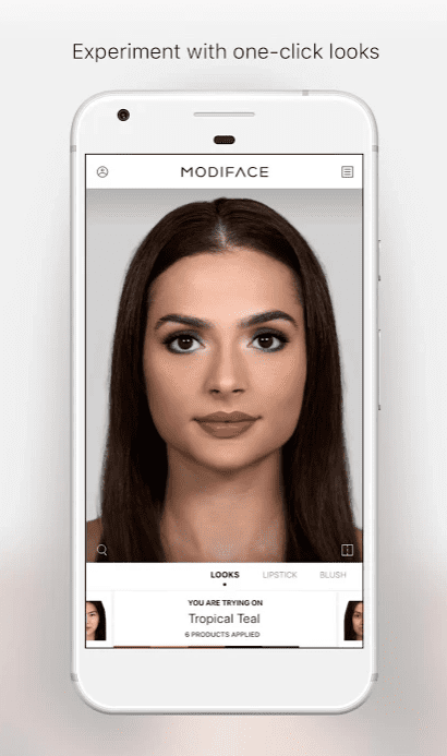 Virtual MakeUp by ModiFace app