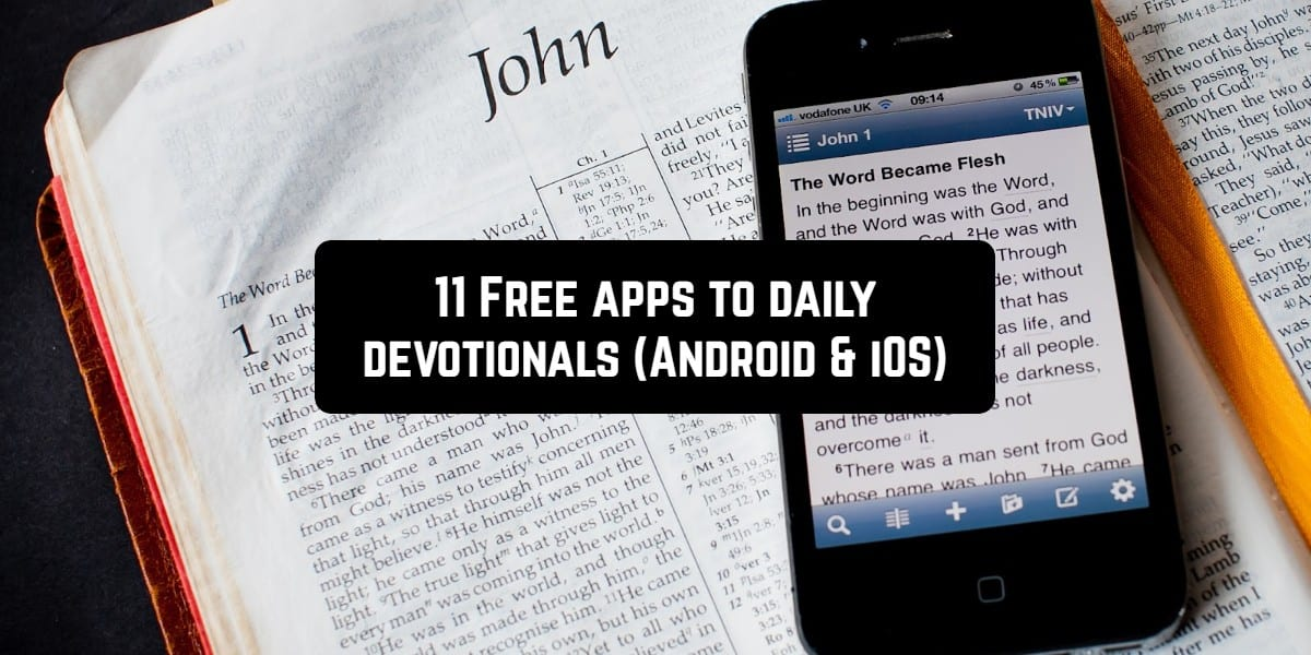 11 Free apps to daily devotionals (Android & iOS)