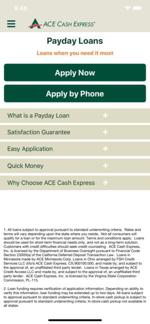 ACE Cash Express Mobile Loans app