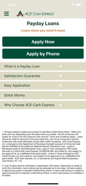 ACE Cash Express Mobile Loans app