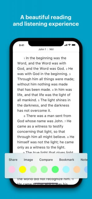 YouVersion Bible App + Audio, Everyday Verse app