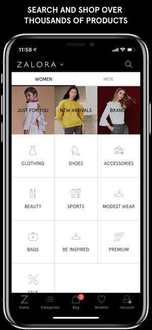 ZALORA Fashion Shopping app