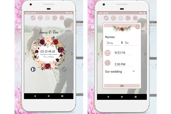 boho wedding countdown