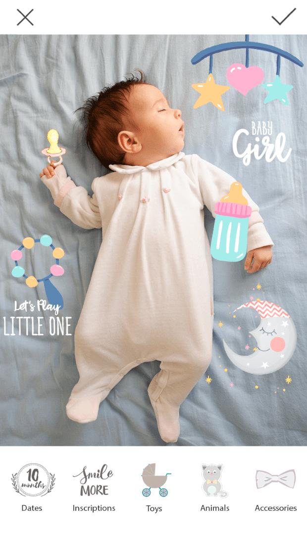 Baby Photo Editor app