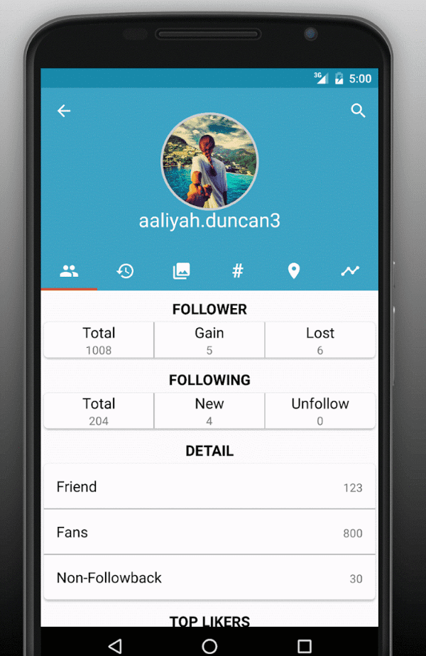 Follower Analyzer app