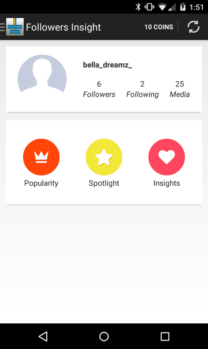 Followers Insight for Instagram app