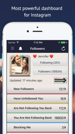 Followers Track for Instagram! app