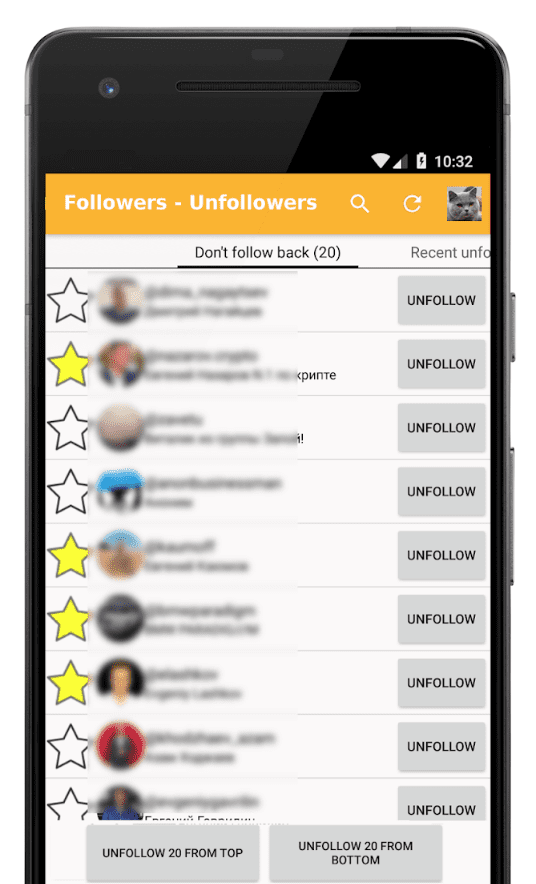 Followers - Unfollowers app