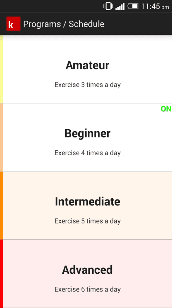 Kegel Workout app
