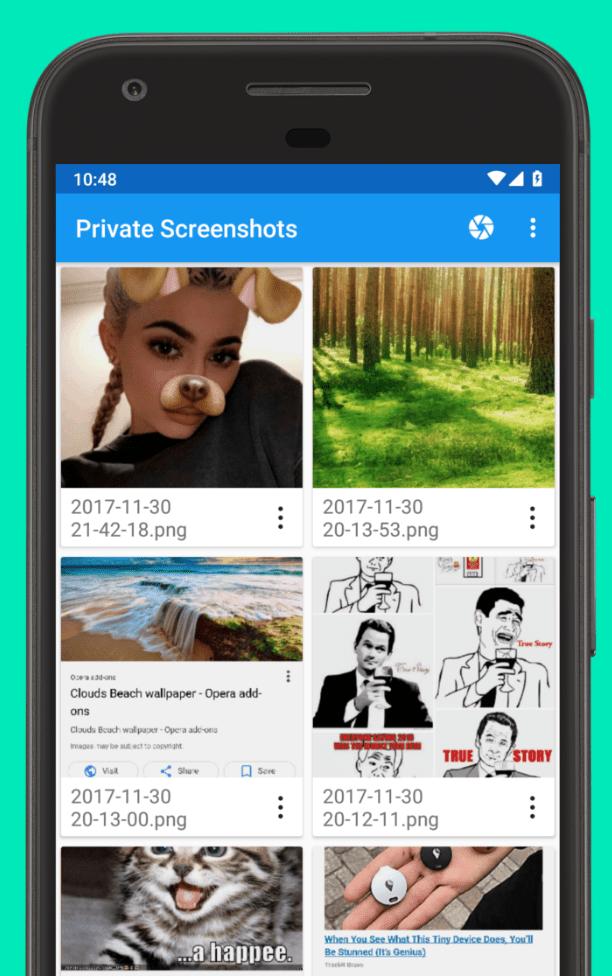 Private Screenshots app