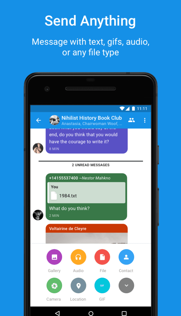 Signal Private Messenger app