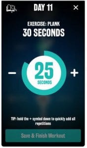 Women's Plank 30 Day Challenge