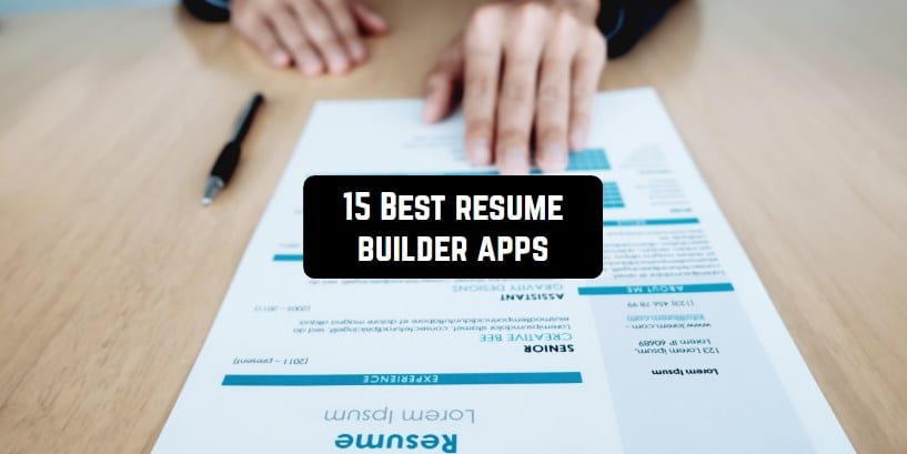 15 best resume apps