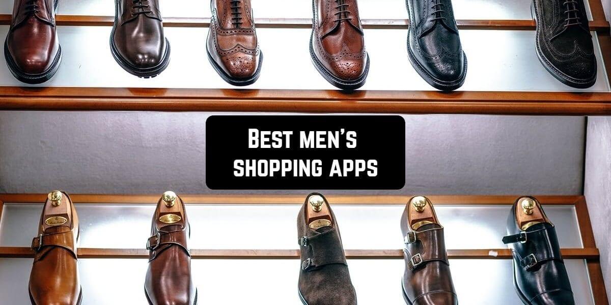 men shopping apps