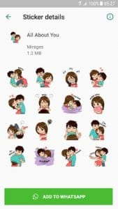 Love Story Stickers