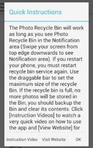 Photo Recycle Bin