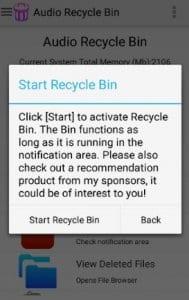 Audio Recycle Bin