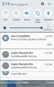 Audio Recycle Bin