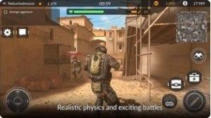 Code Of War screen