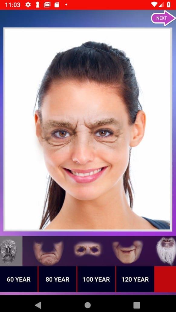 Face Aging app