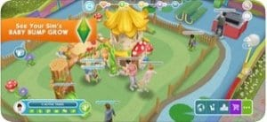 The Sims™ FreePlay screen