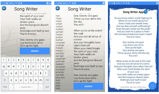 Write Your Own Song - Rhymes Finder