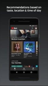 YouTube Music screen1