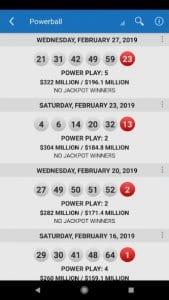 lotto results screen1