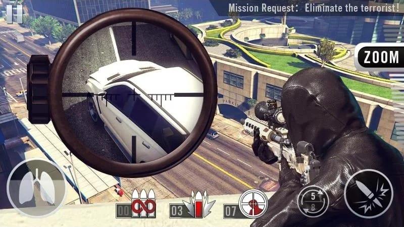 snipper shot 3d screen