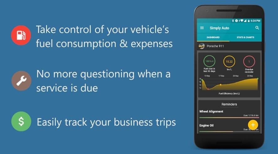 Simply Auto: Car Maintenance & Mileage tracker app