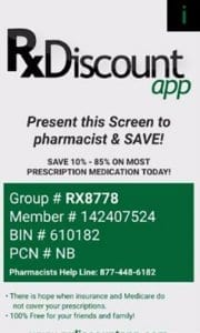 Prescription Drug Discounts - Rx Discount App