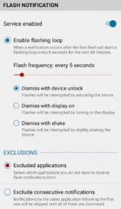 Front Flash Notification