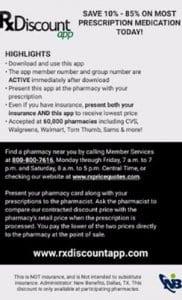 Prescription Drug Discounts - Rx Discount App
