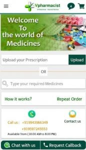 Vpharmacist - 20% Discount for all medicines