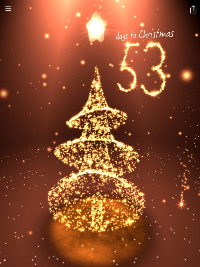 Christmas Countdown 3D scene-screen