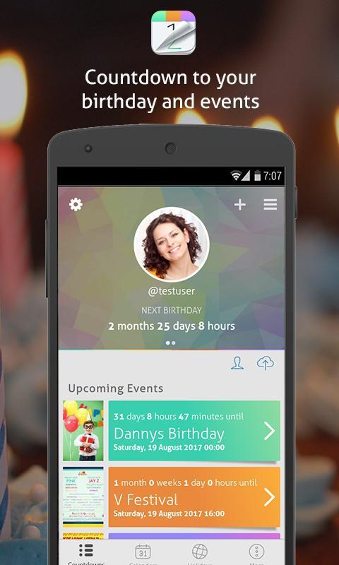 Countdown+ Widgets Calendar Lite-screen