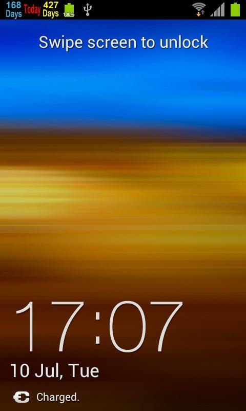 countdown-in-status-bar-screen