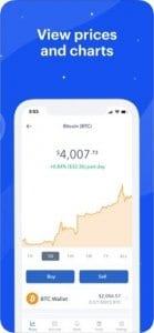 Coinbase screen