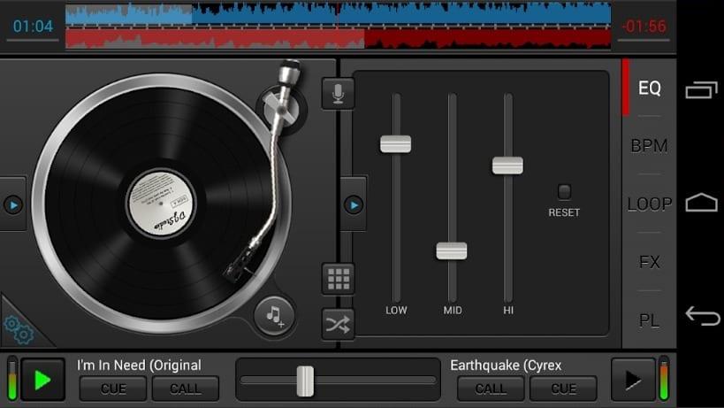 DJ Studio 5 screen