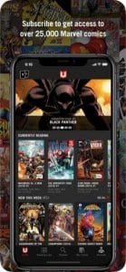 Marvel Unlimited screen